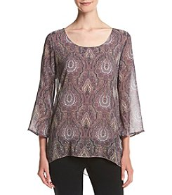 Oneworld® Printed Scoop Neck Top