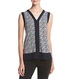 Jones New York® Reflection Print High-Low Tank