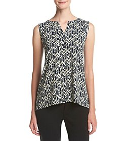 Jones New York® Geo Print Split Back Tank