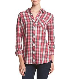 Le Tigre Brushed Plaid Flannel Shirt