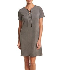 Jessica Howard® Lace Up Neck Shift Dress