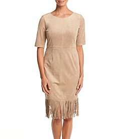 Jessica Howard® Fringe Hem Shift Dress