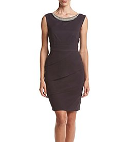 Connected® Jewel Neck Tier Sheath Dress