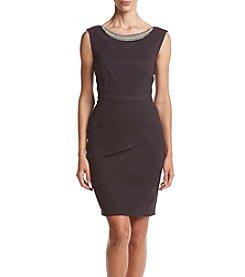 Connected® Jewel Neck Tier Sheath Dress
