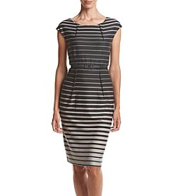 Connected® Belted Striped Dress