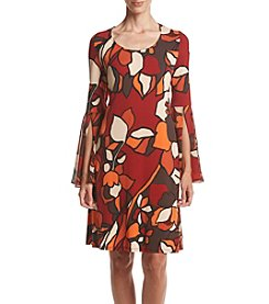 Prelude® Bell Sleeve Printed Trapeze Dress
