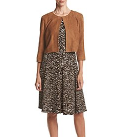 Madison Leigh® Suede Two Piece Belted Jacket Dress