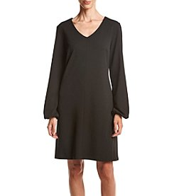 Madison Leigh® V-Neck Crepe Shift Dress