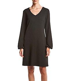 Madison Leigh® V-Neck Crepe Shift Dress