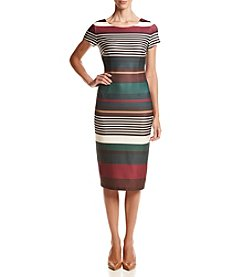Gabby Skye® Striped Midi Sheath Dress