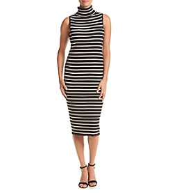 Ronni Nicole® Striped Ribbed Midi Sheath Dress