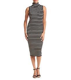 Ronni Nicole® Striped Ribbed Midi Sheath Dress