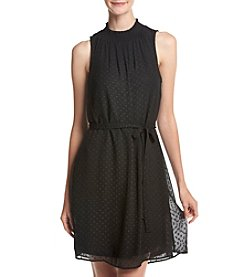 Black Rainn™ Sheer Swiss Dot Dress