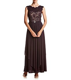 R&M Richards® Hanky Hem Lace Dress