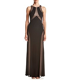 NW Collections Mesh Open Back Gown