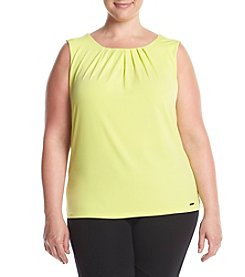 Calvin Klein Plus Size Pleat Neck Cami
