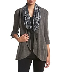 Studio Works® Cosi Knit Cardigan Top And Scarf Set