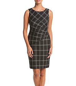 Ivanka Trump® Plaid Scuba Dress