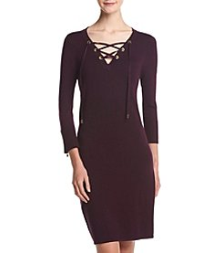 Calvin Klein Lace Up Front Sweater Dress