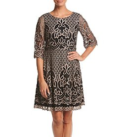 Eliza J® Printed Fit And Flare Dress