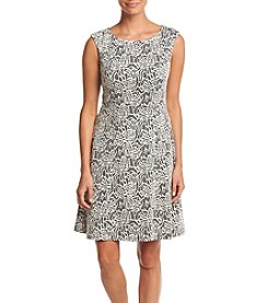 Adrianna Papell Jacquard Dress