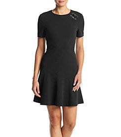 Ivanka Trump® Crepe Scuba Shirt Dress