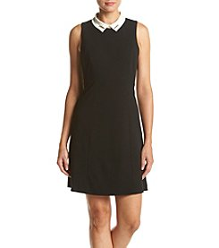 Ivanka Trump® Collar Scuba Dress