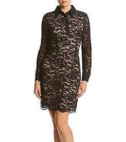 Ivanka Trump® Lace Button Up Dress