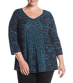 Studio Works® Plus Size Marled V-Neck Sweater