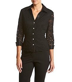 Alex Evenings® Lace Collared Blouse