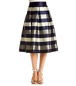 Eliza J® Midi Length Striped Skirt