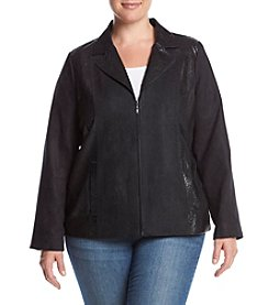 Studio Works® Plus Size Embossed Lapel Jacket