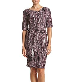 Connected® Petites' Pleat Side Wrap Dress
