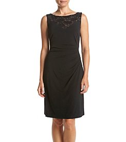 Connected® Petites' Lace Side Ruch Dress