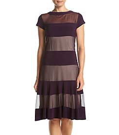 R&M Richards® Petites' Sheer Panel Dress