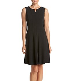 R&M Richards® Petites' Solid Scuba Crepe Dress