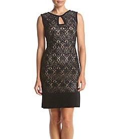 R&M Richards® Petites' Medallion Lace Sheath Dress