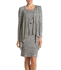 R&M Richards® Petites' Cascade Jacket Dress