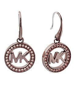 Michael Kors® Sable Tone Pave Drop Earrings