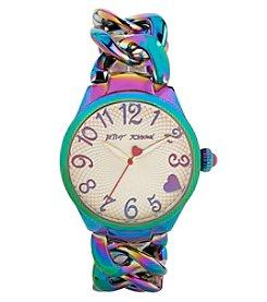 Betsey Johnson® Women's Rainbow Oil Slick Link Bracelet