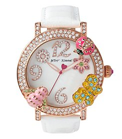 Betsey Johnson® Women's Goldtone Multi-Colored Critter Case Watch