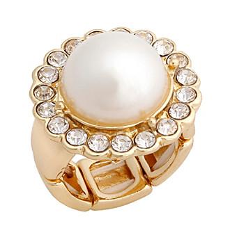 Erica Lyons® Goldtone Glamorous Dome Fashion Stretch Ring