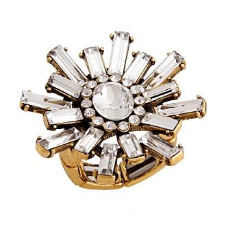 Erica Lyons® Goldtone Glamorous Snowflake Burst Fashion Stretch Ring