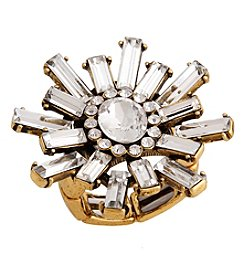 Erica Lyons® Goldtone Glamorous Snowflake Burst Fashion Stretch Ring