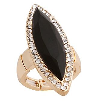 Erica Lyons® Goldtone Glamorous Long Marquise Fashion Stretch Ring