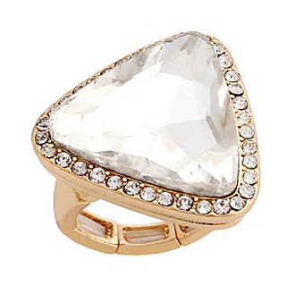 Erica Lyons® Goldtone Glamorous Triangle Fashion Stretch Ring