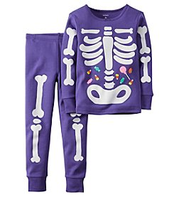 Carter's® Girls' 2-Piece Glow-In-The-Dark Skeleton Pajama Set