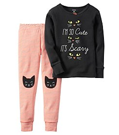 Carter's® Girls' 2-Piece So Cute It's Scary Pajama Set