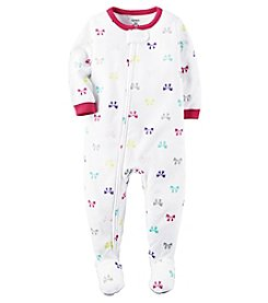 Carter's® Girls' 12M-4T One Piece Fleece Bows Sleeper