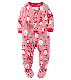 Carter's® Girls' One Piece Fleece Santa Sleeper